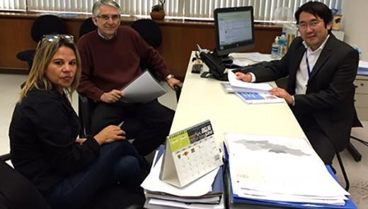 Kátia Rodrigues presidente do Sintesp, Maurício diretor de educação e fiscalização do DETRAN/SP e Coronel PM Renato Pereira gerente de fiscalização